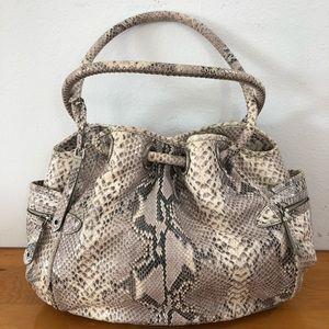 Cole Haan Snake Skin Hobo Bag